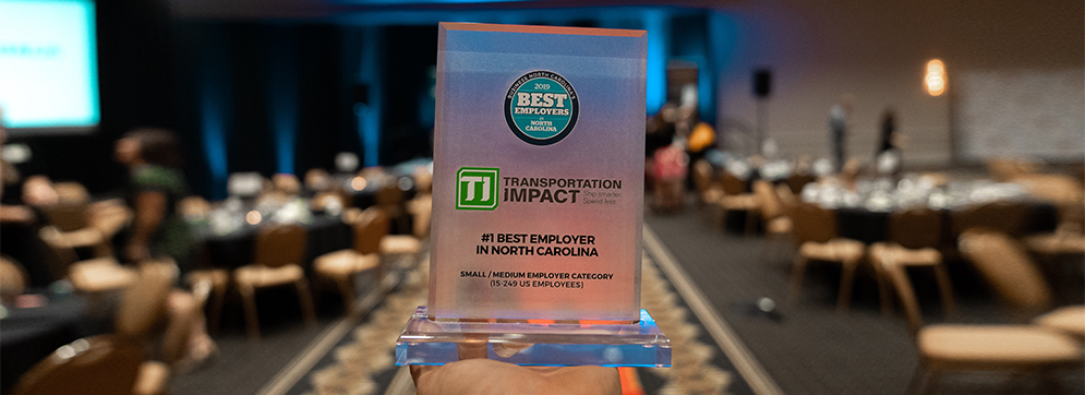 #1 Best Employer in North Carolina Award for the Small/Medium Employer Category (15-249 US Employees)